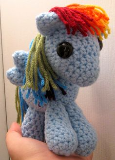 Ravelry: Crocheted Pony Pattern pattern by Chelsea Campbell--I need to learn to crochet!