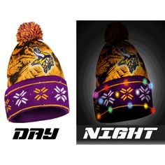 Minnesota Vikings NFL Big Logo Light Up Printed Beanie 6d91ddde4