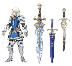 FFXIV Paladin concept art that inspired Johann's Final Fantasy men's band