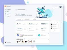 Dashboard - Campaign by Liquidink Design | Dribbble | Dribbble