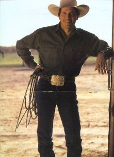 George Strait Pure Country Great movie!!! Definitely like him better without the  facial hair though.