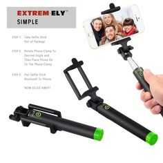 Amazon.com: Selfie stick, Foldable Bluetooth Monopod - NEW for 2015 - Wireless Bluetooth Connection for Ultimate Freedom - Portable Camera Selfie Stick for iPhone 6 Plus, iPhone 6, iPhone 5 5s 5c - Samsung, Android - 100% MONEY BACK Guarantee: Cell Phones & Accessories