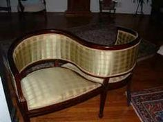 Antique Courting Chair... A Must Have For Me One Day