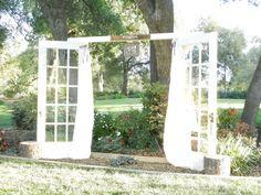 French Doors wedding alter