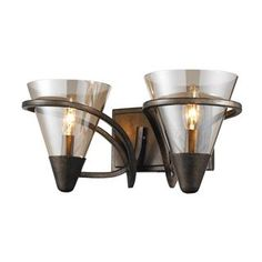 Check out the Golden Lighting 1648-BA2-BUS Olympia 2 Light Bathroom Lighting in Burnt Sienna priced at $179.00 at Homeclick.com.