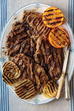 Grilled Yogurt-Marinated Lamb Shoulder chops - These lamb shoulder chops tenderize in a yogurt marinade flavored with cumin and cardamom before grilling. Marinated Lamb, Grilled Lamb, Best Lamb Recipes, Pork Recipes, Fun Recipes, Favorite Recipes, Lamb Shoulder Chops, Grilling Recipes, Cooking Recipes