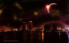 imagini cu orase noaptea