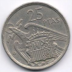 Spain 25 Pesetas 1957 (71) Veiling in de Spanje,Europa (niet of voor €),Munten,Munten & Banknota's Categorie op eBid België
