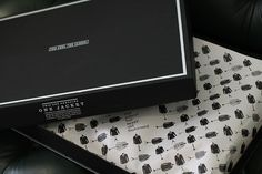 Classy packaging for jacket/coat brand Too Cool For School, designed by El Monocromo.