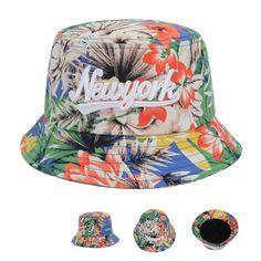 Unisex Bucket Hat Hawaii Tropical Floral Cap Fishing Outdoor Hunting Sun Goldtop #Goldtop #Bucket