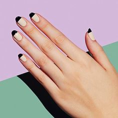 Take a classic French to the next level with Less Is More in like-a-boss beige and black. : @paintboxnails #nailart #naildesign #nailgram #nailinspiration #nails #nailart #naildesigns #nailsdone #manicure #mani