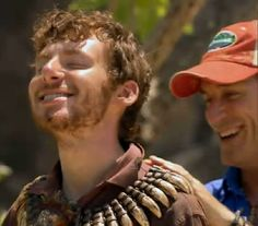 John Cochran wins individual immunity and is given the necklace by Jeff Probst on Survivor Caramoan
