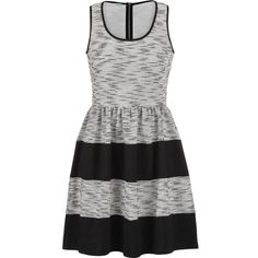 maurices Textured Knit Skater Dress ($29) ❤ liked on Polyvore featuring dresses, grey, grey stripe dress, striped dress, skater dress, stripe skater dress and strappy skater dress