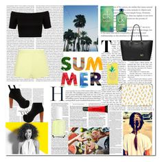 """Summer Sunshine ☀️"" by xxxjazzyxxx01xxx on Polyvore featuring T By Alexander Wang, Essie, Paul Mitchell, Jeffrey Campbell, Casetify, Torrid, MICHAEL Michael Kors, Kate Spade, Miss Selfridge and Calvin Klein"