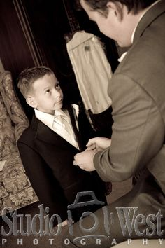 Father son picture - for the day that Nathan will marry.....precious