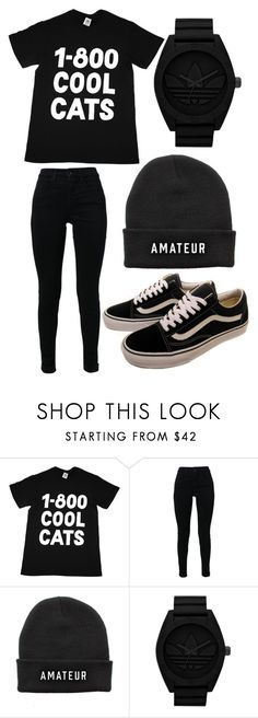 """""""Sem título #431"""" by brunasthefanny ❤ liked on Polyvore featuring Vans, COOL CATS, J Brand and adidas Originals"""
