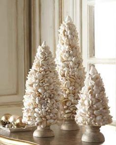 Coastal Style: Christmas Decorating  nicely done shell trees