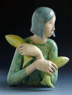 """""""Cross current"""" by Elizabeth Price ceramic sculpture Sculptures Céramiques, Art Sculpture, Pottery Sculpture, Bronze Sculpture, Pottery Art, Sculpture Ideas, Ceramic Sculptures, Abstract Sculpture, Ceramic Figures"""