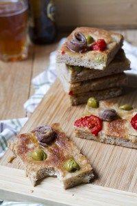 focaccia semi integrale_02 Olive, Waffles, French Toast, Breakfast, Food, Salads, Morning Coffee, Eten, Waffle
