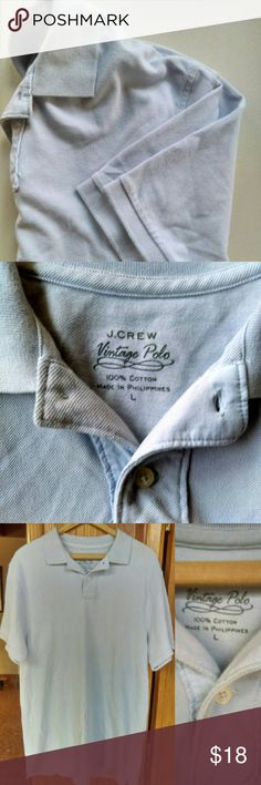 J.CREW vintage polo shirt Powder blue. In great condition. Size L. 100% cotton. J. Crew Shirts Polos