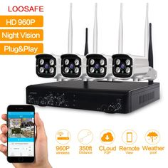 LOOSAFE 4CH WIFI Security Camera System NVR Kit 960P HD wireless CCTV Outdoor IP Camera System Home Video Surveillance System     Tag a friend who would love this!     FREE Shipping Worldwide     {Get it here ---> http://swixelectronics.com/product/loosafe-4ch-wifi-security-camera-system-nvr-kit-960p-hd-wireless-cctv-outdoor-ip-camera-system-home-video-surveillance-system/ | Buy one here---> WWW.swixelectronics.com