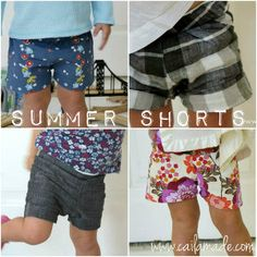 How to Sew Shorts for Summer, includes free pattern and tutorial