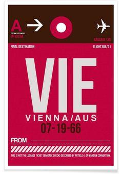 VIE-Wien as Premium Poster by Naxart | JUNIQE