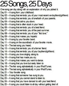 I have been so far behing on this  Day 5: WMYB-One Direction Day 6: Oath-Cher Lloyd Day 7: Summer Love-One Direction Now im up to date