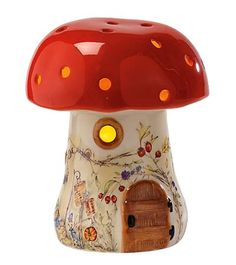 Enchanting Earthenware Ceramic Mushroom Lamp (from Magic Cabin)