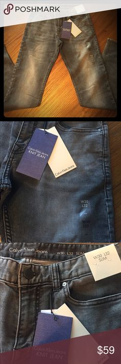 Men's Calvin Klein slim jeans Gray slim fit skinny jeans by Calvin Klein !! New with tags! Men's 30x32 Calvin Klein Jeans Jeans Slim