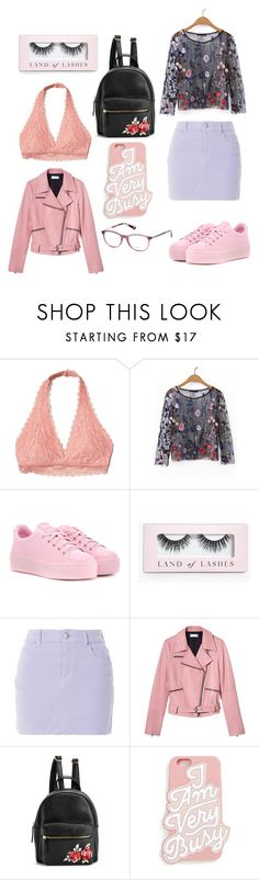 """""""Pastel"""" by peachesbubblegum ❤ liked on Polyvore featuring Hollister Co., WithChic, Kenzo, Boohoo, A.L.C., ban.do and Candie's"""