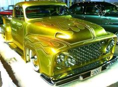 Classic truck made new Hot Rod Trucks, Cool Trucks, Big Trucks, Chevy Trucks, Pickup Trucks, F100 Truck, Lowrider Trucks, Custom Trucks, Custom Cars