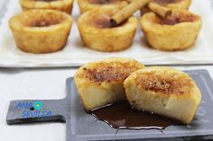 Pastelitos de torrijas Thermomix ración Sin Gluten, Sweet Recipes, Catering, French Toast, Cheesecake, Deserts, Muffin, Cooking Recipes, Sweets
