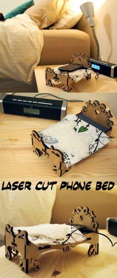 Laser Cut Phone bed #smartphone