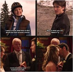 1x01 & 8x18 She did it. She married the boy in the loft. (: