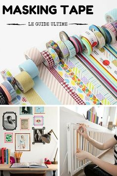 Masking tape: Ideas, tips, DIY, shopping, . - Diy and Crafts Diy Bedroom Decor, Diy Home Decor, Poster Minimalista, Diy Shops, Diy Décoration, Shop Interior Design, Awesome Bedrooms, Cool Diy Projects, My New Room
