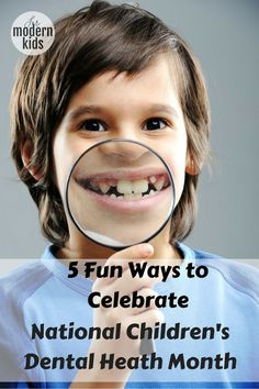 National Children's Dental Health Month is in February! Celebrate this fun holiday with these 5 fun activities.