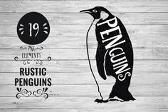 Rustic Penguins by Kaazuclip on Creative Market