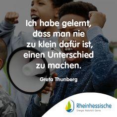 Ein tolles Vorbild für unsere Jugend, oder?! 🌍👧 #Umweltschutz #Fridaysforfuture #Klimawandel #Zitat #GretaThunberg Environmentalism, Youth, Studying, Quotes