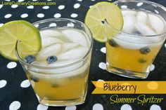 Refreshing Orange & Blueberry Summer Drink. Add a splash of whiskey or champagne (to make it lighter) and you have a delicious summer cocktail!!
