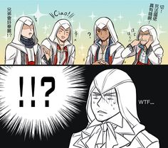 Arno is speechless . Edward wtf are you doing !!!