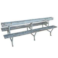 19th c Double sided French Garden Bench