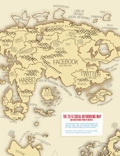 2010 Social Network Map small 65 Terrific Social Media Infographics