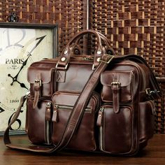 Cheap office bags for men, Buy Quality leather briefcase directly from China briefcase fashion Suppliers: J.D High Quality Cow Leather Briefcase Handbag Fits Laptop Classic Laptop Bag Fashional Vintage Office Bag For Men Leather Briefcase, Leather Satchel, Leather Wallet, Men's Briefcase, Leather Handbags, Men Wallet, Office Bags For Men, Leather Bags Handmade, Weekender