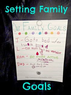 """Make a set of visible family goals and reward yourself when you reach them!- Use picture frame to post goals to, can also use it as a place for """"our Gifts to Jesus"""" Family Meeting, Family Goals, Family Life, Action Quotes, Leader In Me, Habits Of Successful People, Work Motivational Quotes, Personal Goals, Journal Prompts"""