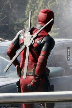 Juust Ryan Reynolds doing what Deadpool would do.