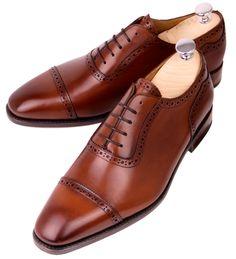 Meermin Mallorca   Copper Antique Calf Leather Oxfords   Handmade Goodyear Shoes