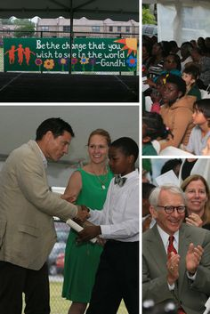 Graduation Day   3 June 2015 at #MeetingStreetAcademy Be the Change that you wish to see in the world #Gandhi #ShermanFinancialGroup #SCEducation