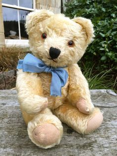SWEET OLD VINTAGE ANTIQUE IRISH TARA SOFT GOLD MOHAIR TEDDY BEAR CIRCA 1950s VGC #Tara