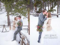 Romantic Winter Wedding Photo Ideas | Colorado Wedding Photographer | Lucy Schultz Photography | Rocky Mountain National Park Wedding | Grey and Blush Wedding Colors | Bride and Groom Pose Ideas